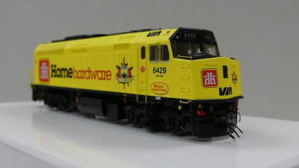 "Rapido Ho Scale VIA Rail F40PH-2D #6429 ""Home Hardware"" DCC Ready"