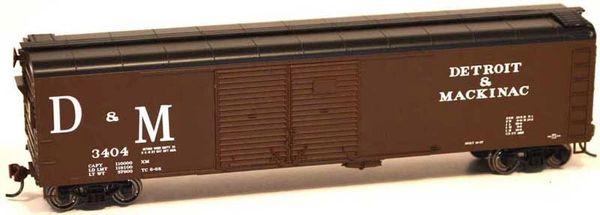 Bowser Ho Scale Detroit & Mackinac X32 50ft Boxcar