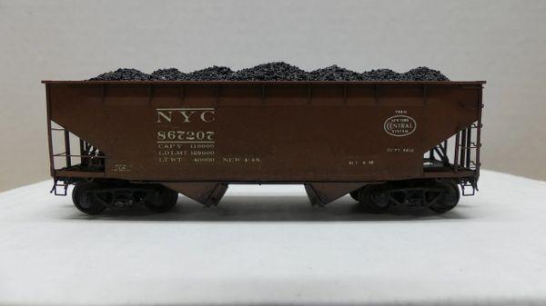Kadee Custom 50 Ton AAR Standard 2 Bay Offset Open Hopper New York Central 867207