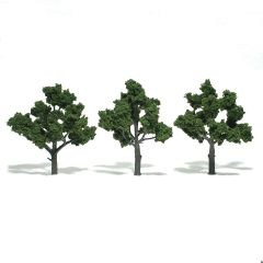 "Woodland Scenics 4-5"" Medium Green Premium Trees 3/Pk"
