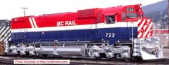 Bowser Ho Scale M630 BC Rail Recessed Hood Mounted Ditchlights DCC Ready *Pre-order*
