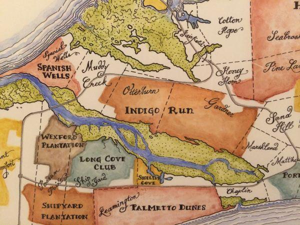 Hilton Head Island South Carolina Map.Plantations Of Hilton Head Island South Carolina Cypress Frame
