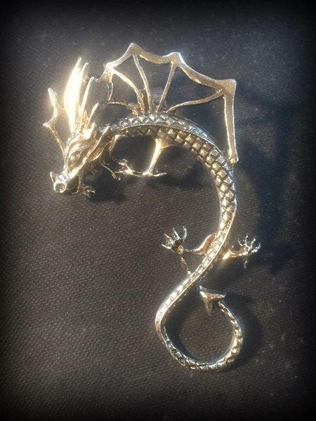 Gothic Dragon Earcuff