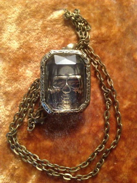 Skull in a Box Necklace