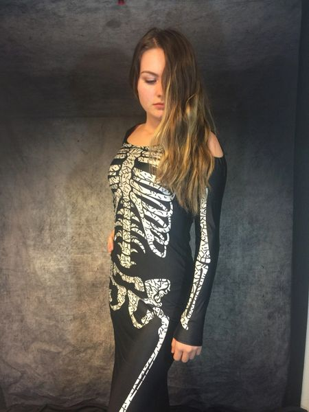 Skeleton Lycra Dress