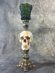 Skull Trinket Box Candle Holder