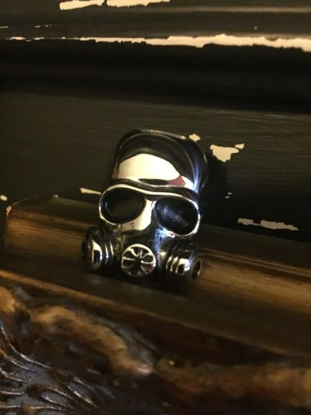 Steampunk Gas Mask Ring