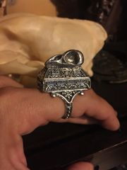 Owl Skull Poison Box Ring