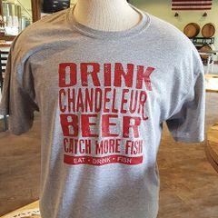 """Shirt - """"Drink Chandeleur Beer"""" - Grey"""
