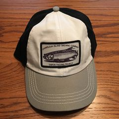 Hat - Tarpon Tagging Project White/Black With Gray Bill