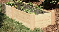 "2'x8' - 16"" high Cedar Raised Garden Bed by Marleywood"