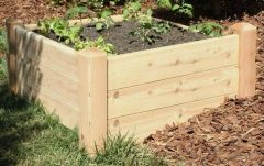 "2'x4' - 16"" high Cedar Raised Garden Bed by Marleywood"