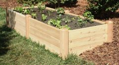 "4'x8' - 16"" high Cedar Raised Garden Bed by Marleywood"