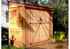 OLT SpaceSaver Double Door Lean To Shed 8×4