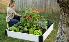 Frame It All Composite Raised Bed Garden - 4'x4' - White