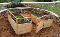 OLT Gated Cedar Raised Garden Bed 8'x 8'