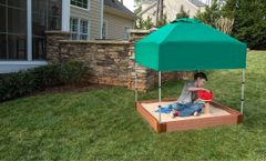 Composite Square Sandbox Kit 4ft. X 4ft. X 5.5 in. (2 inch profile)