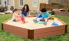 Frame It All One Inch Series 7ft. x 8ft. x 11in. Composite Hexagon Sandbox Kit with Cover