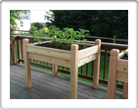 "Marleywood Elevated Patio Planter - 2' x 4' with 37"" posts"
