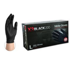 Ammex Xtreme BX3D4 Black Nitrile Powder Free Ind.