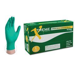 Ammex XNGPF4 Xtreme Nitrile Green Powder Free Ind Gloves