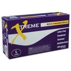 Ammex XN4 Xtreme Nitrile Powdered Gloves (Case)