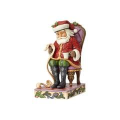 Christmas Wishes Granted - Santa in Chair with List