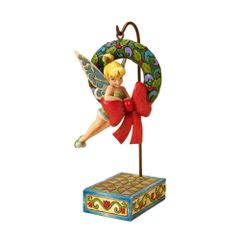 Good Tidings To All Who Believe - Tinker Bell with Wreath