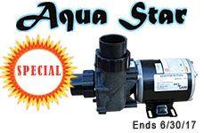 "Aqua Star Pump 1/4 HP OD 2"" Inlet & Outlet"