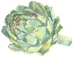 12 Printed Artichoke Place Cards