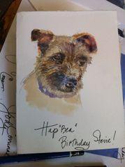 Dog Portrait Birthday Card