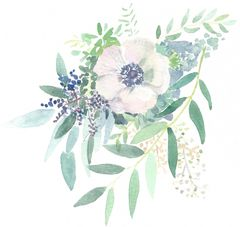 12 Printed Spring Flowers Place Cards