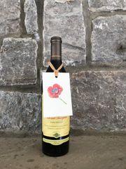 10 Printed Poppy Wine Tags
