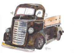 10 Printed Vintage Truck Note Cards