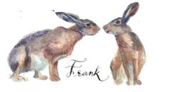 "12 Printed ""Pair of Hare"" Place Cards"
