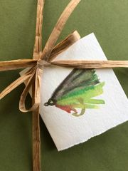 6 Printed Fly Fishing Gift Tags/Enclosures