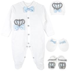 Baby blue crown set
