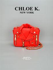 Red moto bag