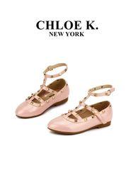 pearl pink camilla rock stud shoe