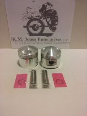 71-3996, Piston, Set, +.020, T140/TR7 1973-83