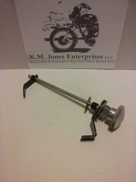 KMJ016, Vintage style steering damper, Hinckley Triumph Bonneville's 2001-2015