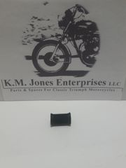 57-2331, Pedal Rubber, Center Stand, Open End, No Logo, Triumph/BSA