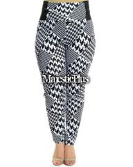 Leggings: Houndstooth