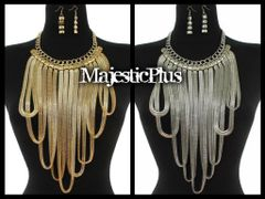 Droop Metal Chain Necklace Set