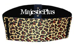 3.5 Plus Size Animal Print Metal Plate Stretch Belt