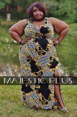 Versace & Maze Print Maxi Dress
