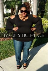 Criss Cross Bell Sleeve Top