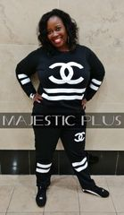 CC Striped Fleece Warm-Up Suit