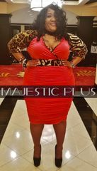 Red & Leopard Print Ruched Wrap Bust BodyCon