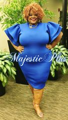 Techno Sleeve Blue BodyCon